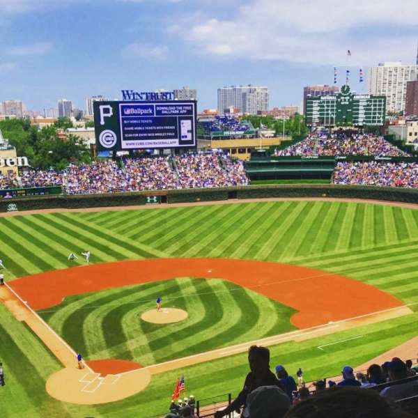 Wrigley Field, section: 523, row: 4, seat: 12
