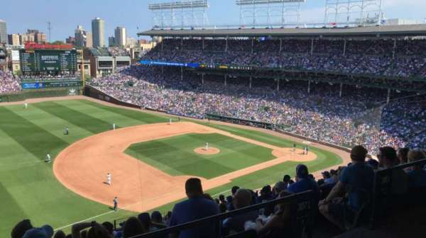 Wrigley Field, section: 408L, row: 1, seat: 15