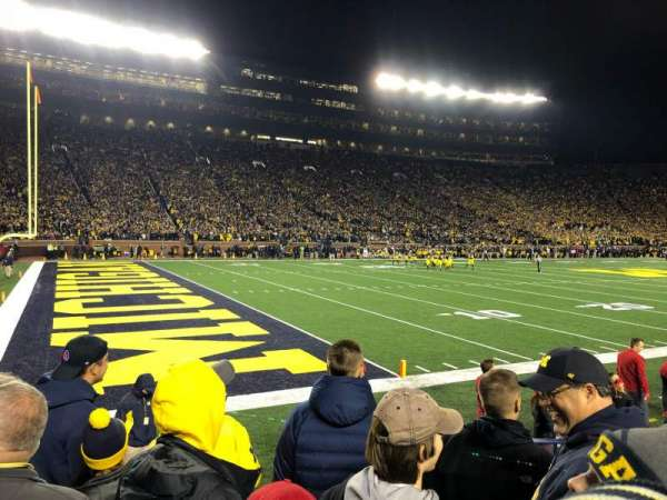 Michigan Stadium, section: 6, row: 3, seat: 16