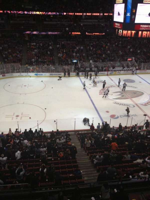 Honda Center, section: 435, row: A, seat: 15