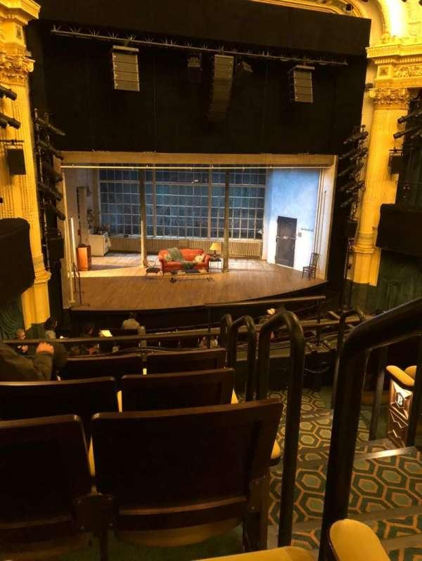 Hudson Theatre, section: Dress Circle L, row: E, seat: 1