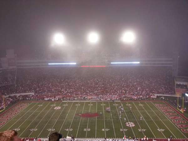 Razorback Stadium, section: 514, row: 5, seat: 33