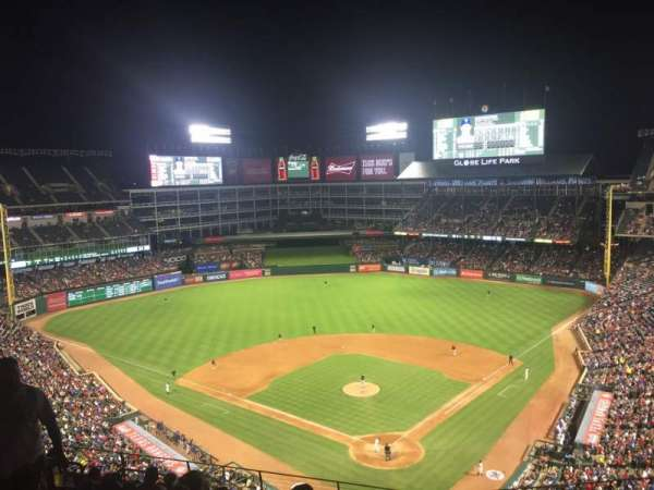 Globe Life Park in Arlington, section: 325, row: 12, seat: 9