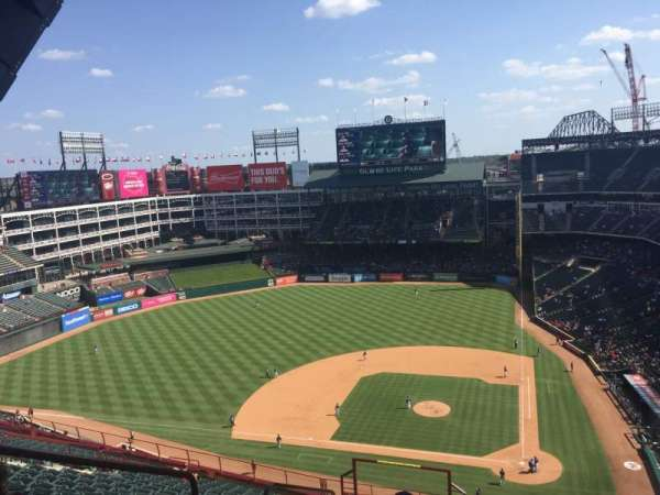 Globe Life Park in Arlington, section: 322, row: 22, seat: 3