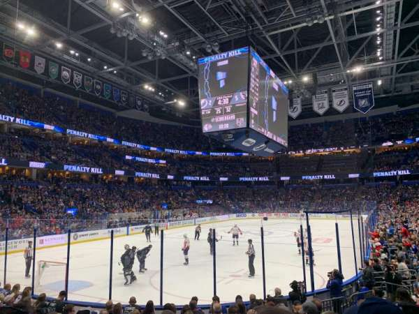 Amalie Arena, section: 122, row: M, seat: 8