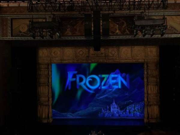 Hollywood Pantages Theatre, section: Mezzanine C, row: D, seat: 106