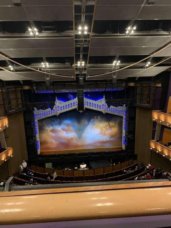 Ahmanson Theatre, section: Balcony, row: A, seat: 23