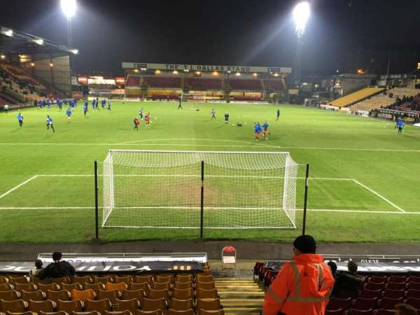 Valley Parade, section: KOP (Block D), row: M, seat: 71