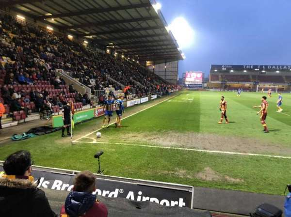 Valley Parade, section: KOP (Block F), row: G, seat: 128
