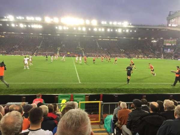 Old Trafford, section: Sir Alex Ferguson N1407, row: KK, seat: 158