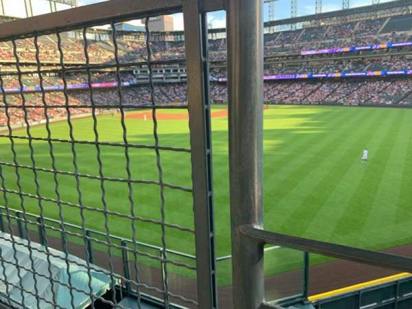 Coors Field, section: 201, row: 1, seat: 9