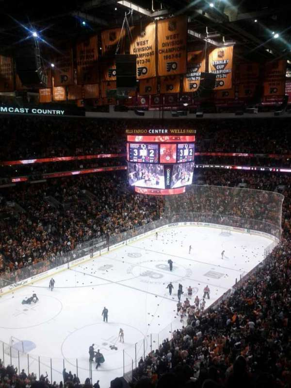 Wells Fargo Center, section: 221a, row: 10, seat: 9