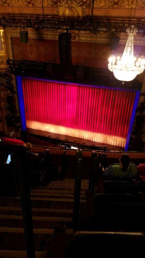 Longacre Theatre, section: Balcony, row: F, seat: 1