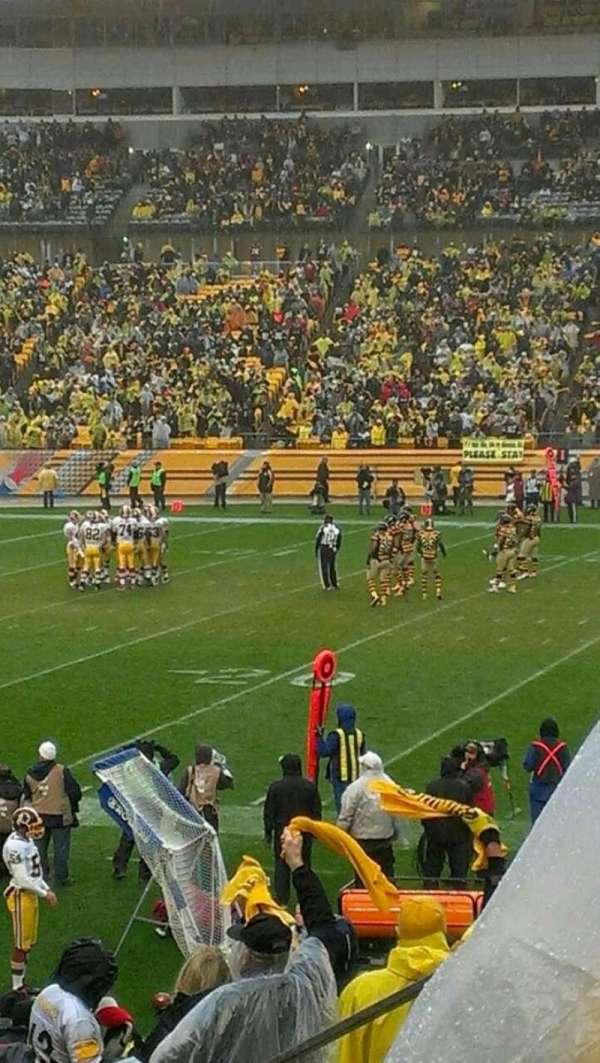 Heinz Field, section: 110, row: f, seat: 1