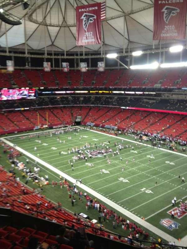 Georgia dome, section: 341, row: 9, seat: 9