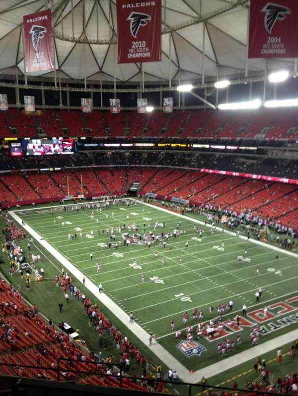 Georgia Dome, section: 339, row: 8, seat: 1