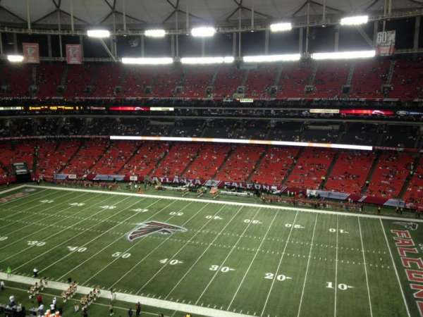 Georgia Dome, section: 321, row: 8, seat: 18
