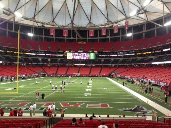 Georgia Dome, section: 104, row: 18, seat: 4