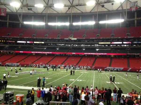 Georgia Dome, section: 113, row: 10, seat: 1