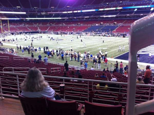 The Dome at America's Center, section: 108, row: AA, seat: 1