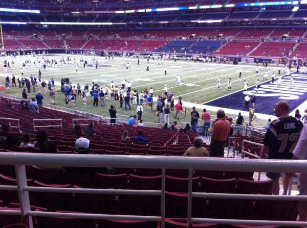 The Dome at America's Center, section: 109, row: U, seat: 2