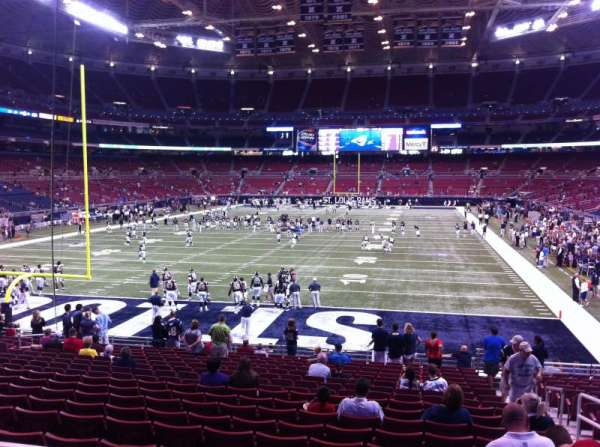The Dome at America's Center, section: 126, row: U, seat: 2