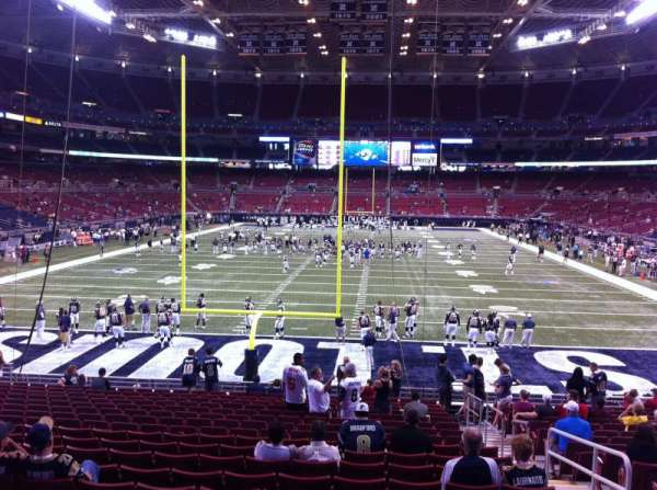 The Dome at America's Center, section: 127, row: U, seat: 2