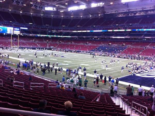 The Dome at America's Center, section: 136, row: U, seat: 2