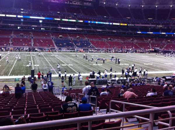 The Dome at America's Center, section: 143, row: U, seat: 2