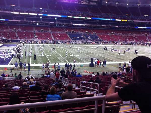The Dome at America's Center, section: 145, row: U, seat: 3