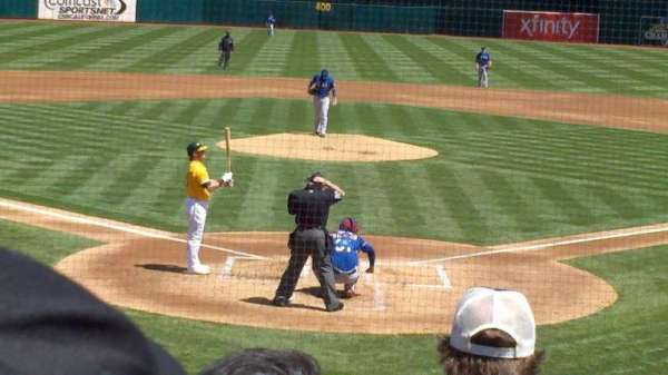 Oakland Alameda Coliseum, section: 117, row: 17, seat: 9