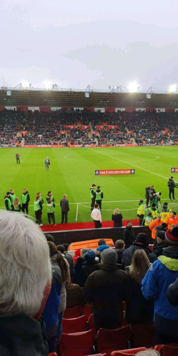 St Mary's Stadium, section: 08, row: N, seat: 0201