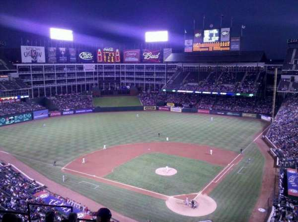 Globe Life Park in Arlington, section: 324, row: 6, seat: 8