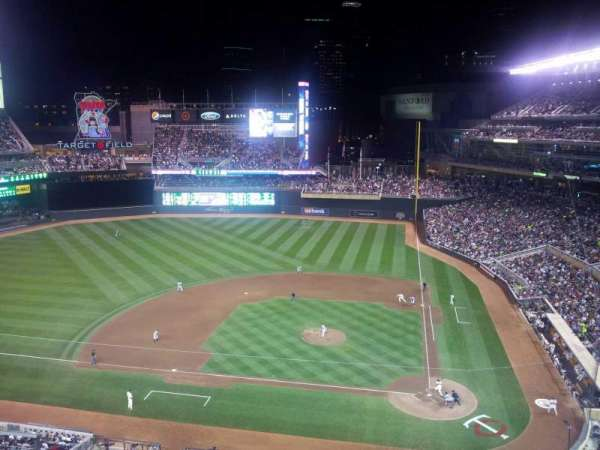 Target Field, section: 319, row: 2, seat: 12