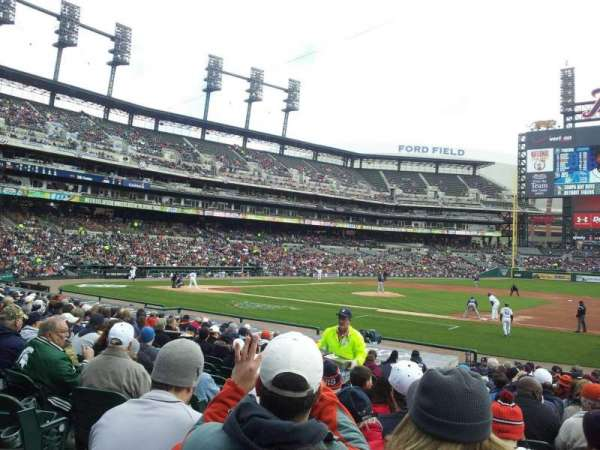 Comerica Park, section: 119, row: 22, seat: 13