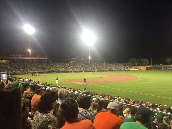 Scottsdale Stadium, section: Blc B, row: 12, seat: 17