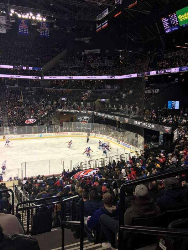 Barclays Center, section: 107, row: 7, seat: 1