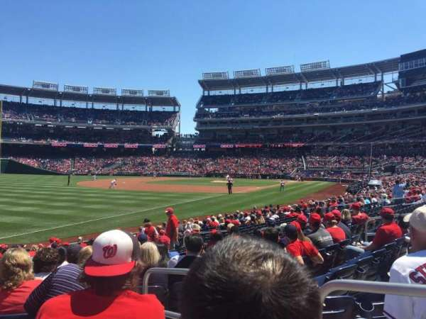 Nationals Park, section: 109, row: U, seat: 2