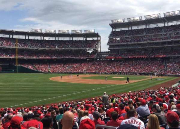 Nationals Park, section: 109, row: DD, seat: 3
