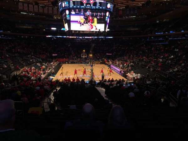 Madison Square Garden, section: 102, row: 16, seat: 6