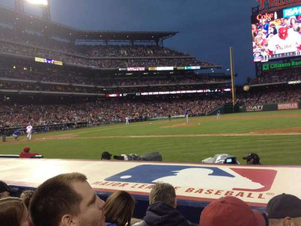 Citizens Bank Park, section: 116, row: 3, seat: 5