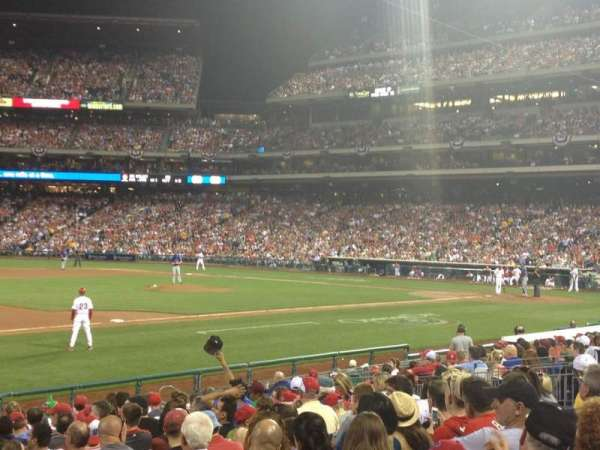 Citizens Bank Park, section: 134, row: 18, seat: 3