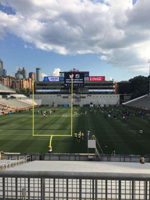 Bobby Dodd Stadium, section: 116, row: 27, seat: 8