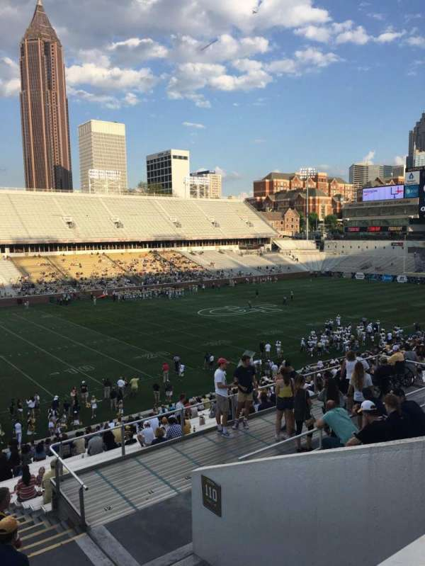 Bobby Dodd Stadium, section: 111, row: 38, seat: 5