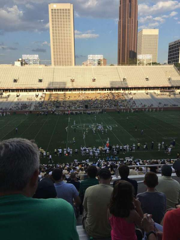 Bobby Dodd Stadium, section: 107, row: 45, seat: 5