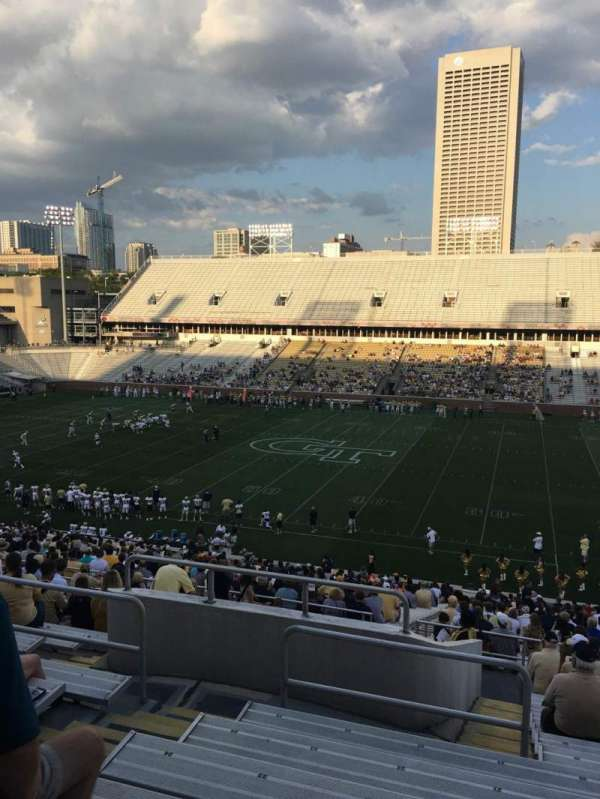 Bobby Dodd Stadium, section: 104, row: 45, seat: 21
