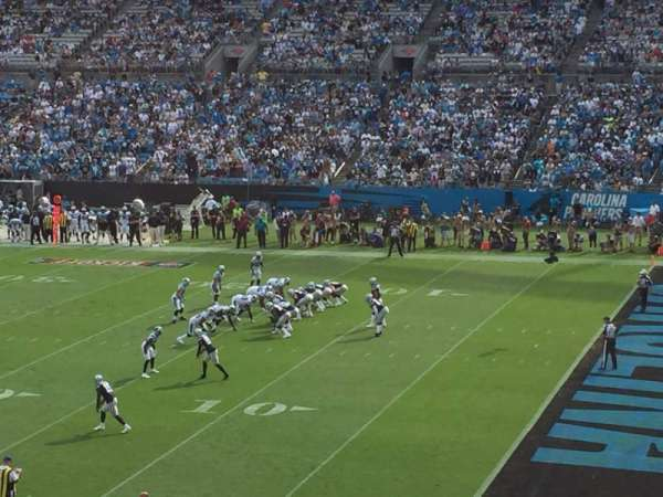 Bank of America Stadium, section: 311, row: 9, seat: 7