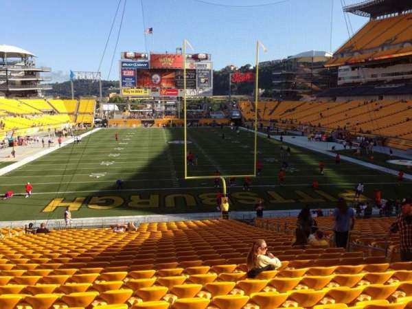 Heinz Field, section: 122, row: UU, seat: 10