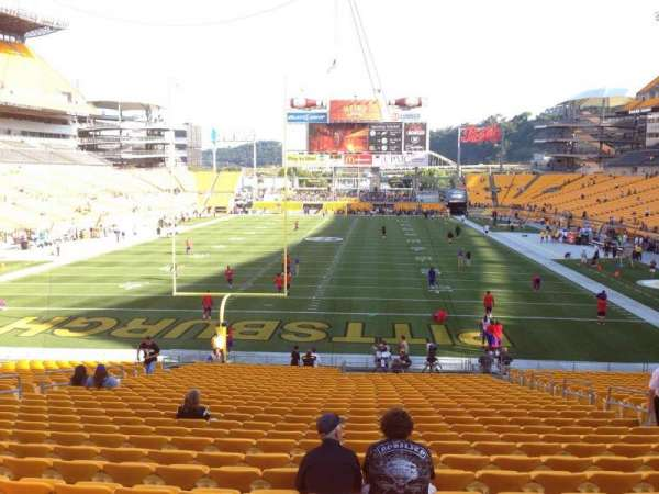 Heinz Field, section: 123, row: UU, seat: 10