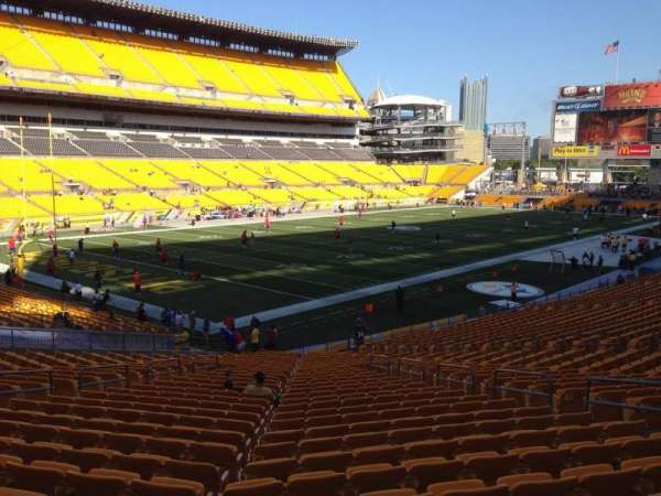 Heinz Field, section: 128, row: X, seat: 10